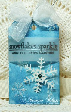 Stamping with Klass: Snowflakes Sparkle