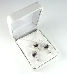 Wine Jewelry - Wine Glass Earrings by varela
