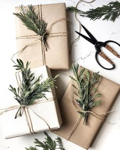 Just a reminder that there's no need to spend lots of money on Christmas wrapping paper. How beautiful does this look! Christmas Present Wrap, Christmas Gift Wrapping, Holiday Gifts, Christmas Gifts, Christmas Decorations, Christmas Ornaments, Rustic Christmas, Simple Christmas, Christmas Time