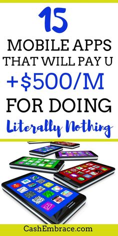 Mobile Apps that will make you money online: make extra cash for doing nothing. These apps are a great way to increase your monthly online income. Plus, consider them your perfect choice where extra income ideas are being concerned. The best money makin Best Money Making Apps, Make Easy Money, Make Money Blogging, Earning Money, Money Tips, Money Making Websites, How To Get Money Fast, Money Hacks, Earn Money From Home