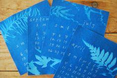 cyanotype calendar by kelly wilkinson