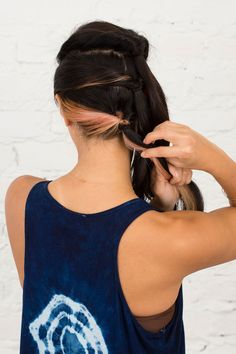 Amp up your basic ponytail with this hair hack.