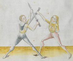 Lecküchner, Hans: Kunst des Messerfechtens Nordbayern, 1482 Cgm 582 Folio 288