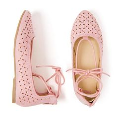 82bd07eb109 Accessories Petal Pink Lace-Up Flats by Gymboree Cute Outfits For Kids