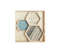 Set de 4 plateaux 'Geometric'