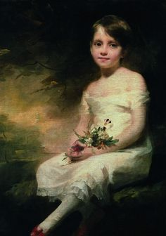 Petite fille tenant des fleurs, dit aussi Innocence, by Sir Henry Raeburn