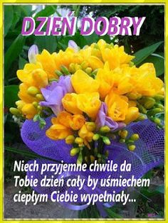 Golden yellow with purple mesh ribbon Baby Posters, Good Morning Funny, Beautiful Rose Flowers, Have A Great Day, Optimism, Beautiful Pictures, Plants, Mesh Ribbon, Golden Yellow