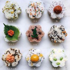 Japanese Food Dishes, Japanese Food Sushi, Temari Sushi, Cute Food, Yummy Food, Sushi Master, Kimbap, How To Cook Rice, Rice Balls