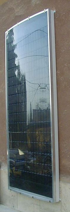 panneau solaire en canettes-   FOR ENGLISH (I like the look of the panel, curved, well done.)http://www.freeonplate.com/how-to-build-diy-solar-panels-out-of-pop-cans/ photos