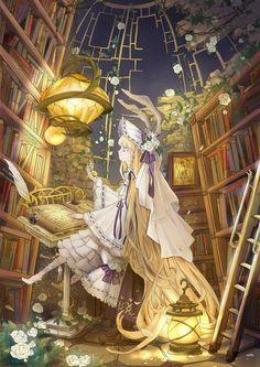 「図書室」/「葉雪」のイラスト [pixiv]