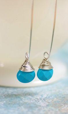 Sterling Silver Turquoise {Earrings} $30 ♥ Delicately fabulous!