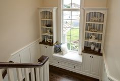 Great idea for reading nook above the foyer