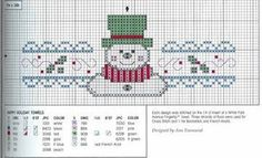 Charts Cross Stitch: Snowman in Cross Point