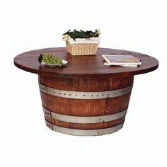 2-Day Designs Half Barrel Cocktail Table
