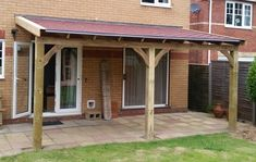 Lean To Hardwood Oak Gazebo