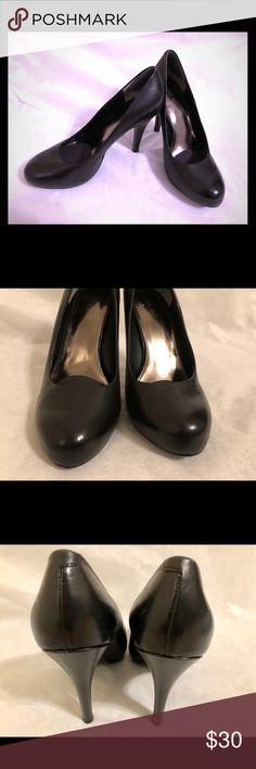 Nine West Classic Black Pumps Classic round toed black pumps.  Was worn only a handful of times. Size 5 Nine West Shoes Heels
