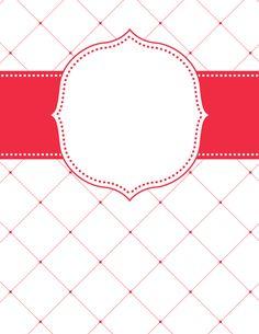 Red Lattice Binder Cover