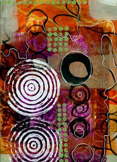 collage journeys: Scribble Painting