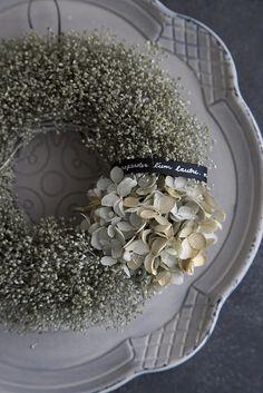 Gothic Wreath カスミソウと紫陽花のリース   ハンドメイドマーケット minne