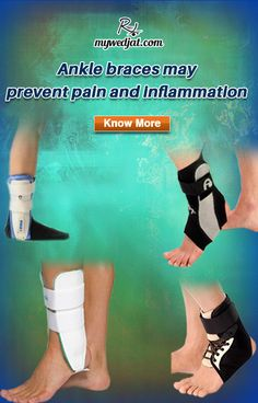 Ankle brace supports medial and lateral ankle joints