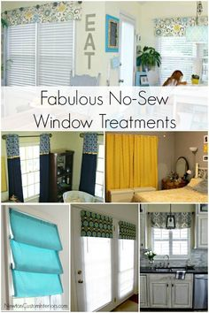 No-Sew Window Treatments from NewtonCustomInteriors.com.  You can make these fabulous window treatments without a sewing machine!