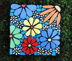I hope my steppingstones make you smile as much as the do me when I am creating them. f/b steppingstones by Carmel at Laughing Crow Art Studio