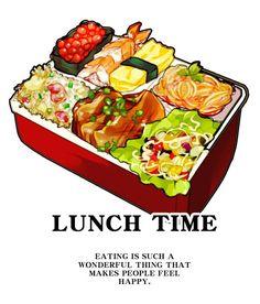 「お弁当」/「sini the girl」[pixiv] Bento, Food Art Painting, Real Food Recipes, Yummy Food, Japanese Food Art, Pinterest Instagram, Food Sketch, Watercolor Food, Food Icons
