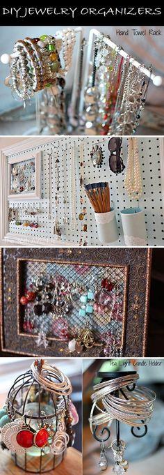 Amazing Jewelry Organizers – DIY