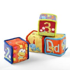 d2d00790bb0 Amazon.com  Bright Starts Grab and Stack Blocks  Toys  amp  Games My