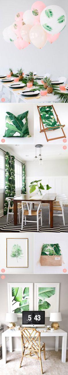 Tropische Motive sind gerade das Motiv im Home Bereich! #pflanzenfreude