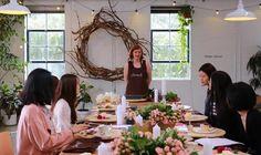 Table Arrangement Workshop — Stems From Her #melbourneflorist #melbourne #flowers #tablearrangementworkshop #floristryworkshop #floristryclass #artitudestudios #floralfun #howtomakeatablearrangement #stemsfromher