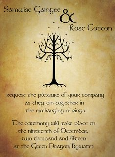 Why not start off your new adventure by inviting your friends and family to join you with these Lord of the Rings inspired wedding invitations.