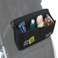 Valco Baby Universal Pocket Pouch Snack Pack can be attached to virtually any stroller front bumper bar or handlebar to provide easy access pockets for your child's snacks.