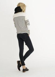 Black brogues/stripes