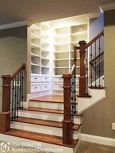 Built-ins at the stair landing