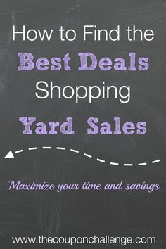 Yard sales are a great way to find household treasures, tools, sports equipment, baby furniture, toys and clothing at a bargain price.  Follow these tips to help maximize your time and savings.