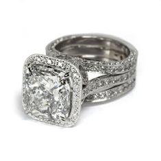 925 Silver Fashion Jewelry Magnifique Blanc Sapphire femmes bague de mariage Taille 6-10
