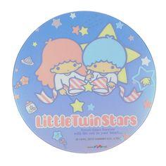 """Little Twin Stars Transparent Mouse Pad Mouse Mat Desk Mat Dia.8.6"""" Blue Sanrio.$10.00"""