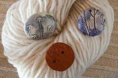 Bottoni fatti a mano per i vostri progetti a maglia - www.kreaktivarium.com