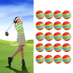 Sponge golf training soft ball Soft, light-weight and flexible Very attractive and bright color Great for approach shot practice Golf Ball Crafts, Best Golf Clubs, Golf Practice, Golf Chipping, Chipping Tips, Perfect Golf, Golf Training, Golf Lessons, Golf Humor