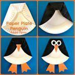 Kids Craft: Paper Plate Penguin