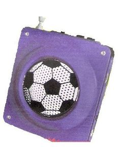 Blue Soccer Radio and cell phone charger