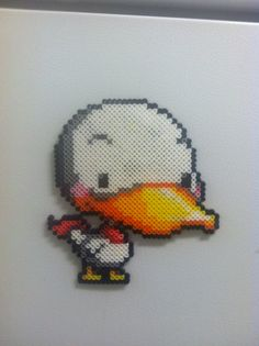 Maplestory Duck - Perler Art by Brentimous.deviantart.com on @deviantART