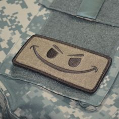 Battle Tested Elite Warrior JTF Operator Velcro Morale Patch No Fear Happy Face | eBay