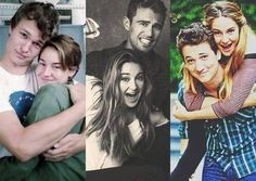 Shailene Woodley with Ansel Elgort (The Fault in Our Stars), Theo James (Divergent), and Miles Teller (The Spectacular Now) Divergent Humor, Divergent Trilogy, Divergent Insurgent Allegiant, Theo James, Theo Theo, James 4, Shailene Woodley, Tris Und Four, Tris Et Tobias