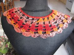HANDMADE CROCHETED COLLAR NECKLESS SOFT  CHANGING COLORS THREAD ONE OF A KIND   Clothing, Shoes & Accessories, Women's Accessories, Collar Tips   eBay!