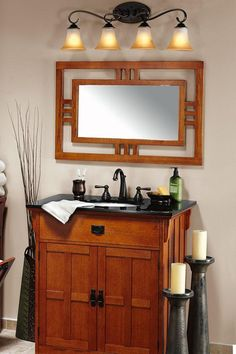 If we ever decide to totally redo my bathroom, this vanity is a definite yes (not a fan of the mirror or light fixtures, however)