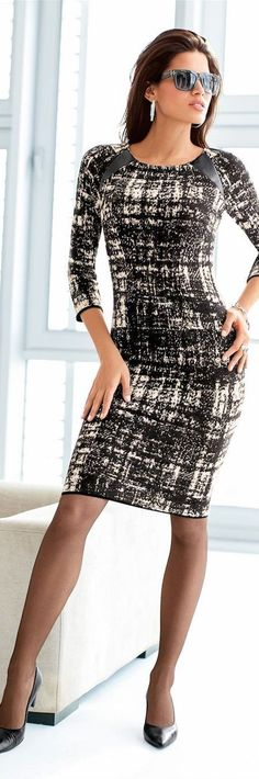 Dress with leather accents #dress