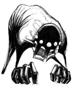 The art of Shawn Coss — Inktober Illness Series II Dark Art Illustrations, Illustration Art, Monster Drawing, Sleep Paralysis, Emo Art, Time Painting, Creepy Art, Horror Art, Tim Burton