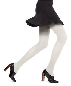 HUE Classic Rib Tights offer a textured rib and control top support. Soft vertical ribbed texture tights are available in a variety of colors. Tights And Heels, Winter Tights, Colored Tights, Patterned Tights, Opaque Tights, Shorts With Tights, Pantyhose Fashion, Fashion Tights